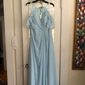 Azazie Dakota Sky Blue Bridesmaid Dress Sz 12